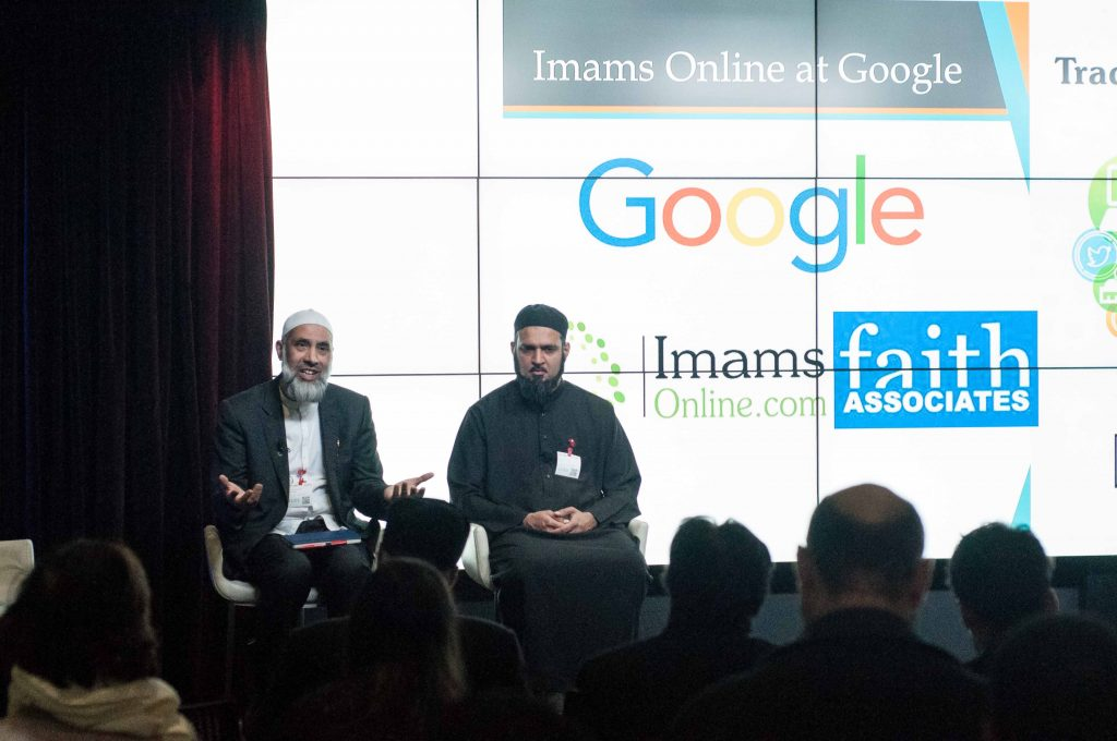 Imams Online Digital Summit at Google HQ in London. L-R: Dr Musharraf Hussain and Shaykh Amer Jamil.
